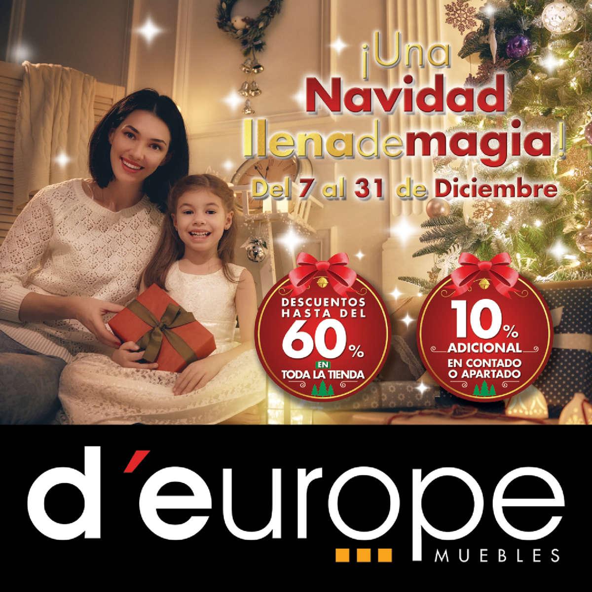 D Europe Muebles Navidad Llena De Magia Hasta 60 De Descuento  # Muebles Deurope